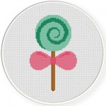Lollipop Cross Stitch Illustration
