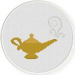 Magic Lamp Cross Stitch Illustration