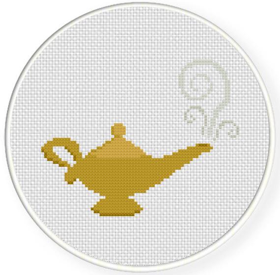 Magic Lamp Cross Stitch Pattern | Daily Cross Stitch