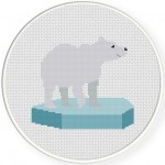 Polar Bear Cross Stitch Illustration