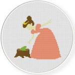 Princess and the Frog Cross Stitch Illustration