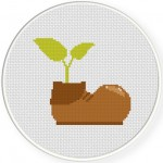 Shoe Seedling Cross Stitch Illustration