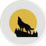 The Wolf Cross Stitch Illustration