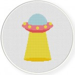 UFO Cross Stitch Illustration