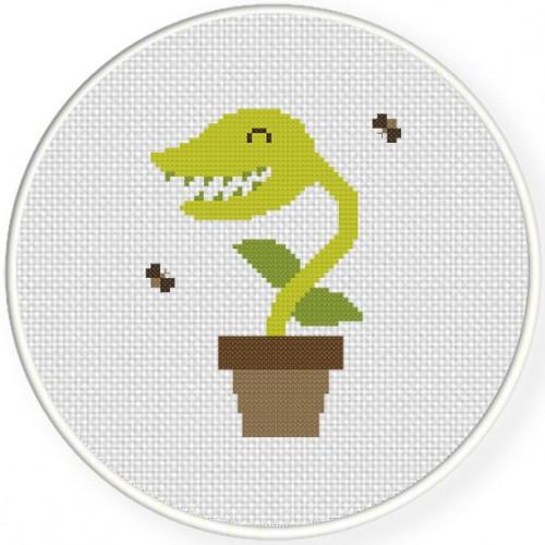 Venus Flytrap Cross Stitch Illustration