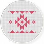 Aztec Pattern Design Cross Stitch Illustration
