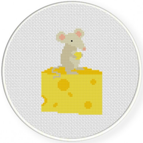 Cheese is Mine Cross Stitch Illustration