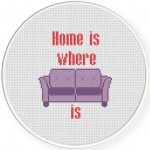 Couch Cross Stitch Illustration