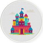 Dream Castle Cross Stitch Illustration