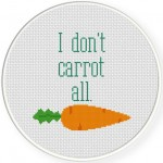 I dont carrot all Cross Stitch Illustration