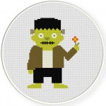 Monster Boo Cross Stitch Illustration