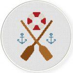 Nautical Design Cross Stitch Illustration