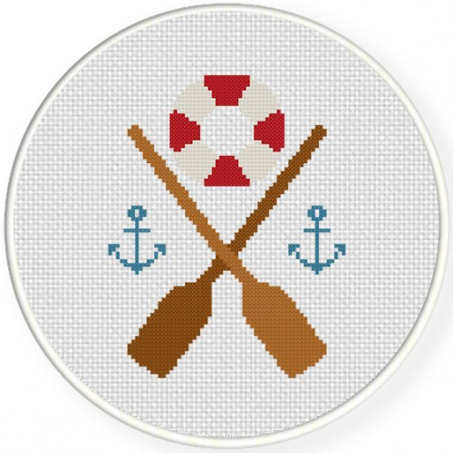 Nautical Design Cross Stitch Illustration