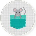 Pocket Mouse Cross Stitch Illustration