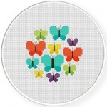 Pretty Butterflies Cross Stitch Illustration
