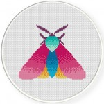 Pretty Moth Cross Stitch Illustration