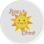 Rise and Shine Cross Stitch Illustration