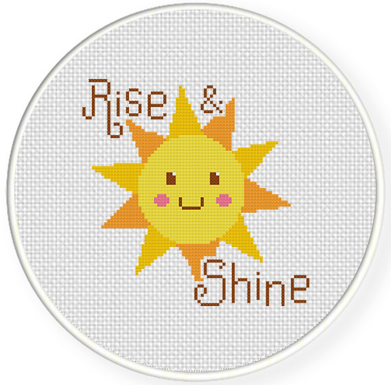 rise and shine cross stitch pattern daily cross stitch. Black Bedroom Furniture Sets. Home Design Ideas