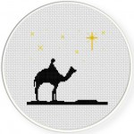 Search For the Star Cross Stitch Illustration