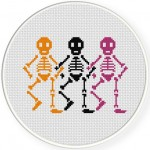 Skele-dancers Cross Stitch Illustration