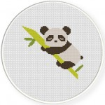 Sleepy Panda Cross Stitch Illustration