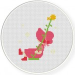 Sunbonnet Girl Swing Cross Stitch Illustration