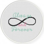 Always And Forever Cross Stitch Illustration