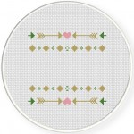 Arrow Decorative Design Cross Stitch Illustration