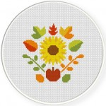 Autumn Deco Cross Stitch Illustration