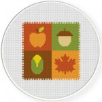 Autumn Quilt Cross Stitch Illustration