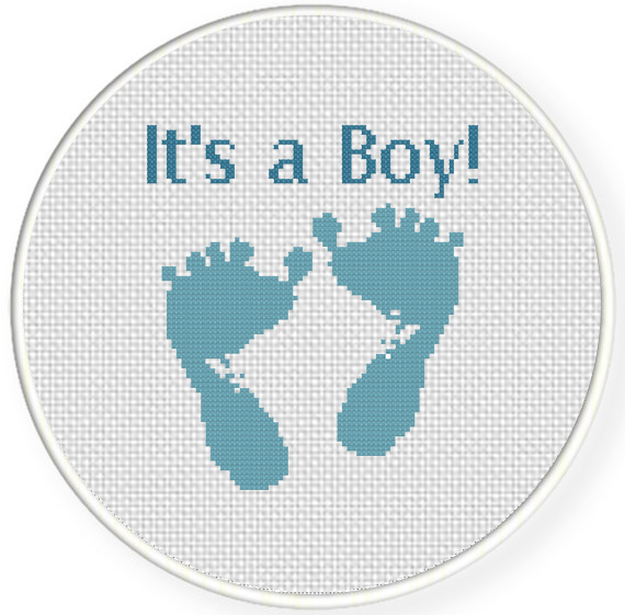 charts club members only baby boy feet cross stitch pattern daily