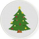 Christmas Tree Cross Stitch Illustration