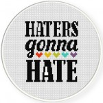 Haters Gonna Hate Cross Stitch Illustration