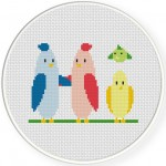 Hi Birds Cross Stitch Illustration
