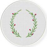Laurel Border Cross Stitch Illustration