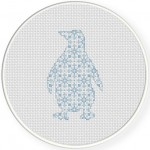 Penguin Pattern Cross Stitch Illustration