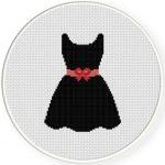 Pretty Dress Cross Stitch Illustration