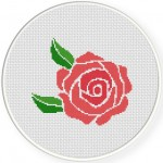 Pretty Rose Cross Stitch Illustration