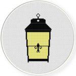 Vintage Lamp Cross Stitch Illustration
