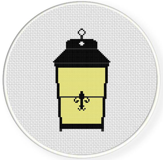 Vintage Lamp Cross Stitch Pattern | Daily Cross Stitch