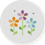 Bunch Of Flowers Cross Stitch Illustration