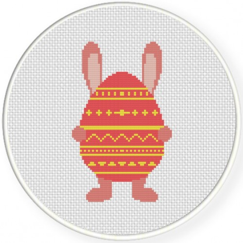 Easter Bunny Cross Stitch Illustration