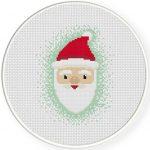 Happy Santa Cross Stitch Illustration