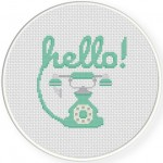 Hello! Cross Stitch Illustration