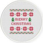 Holiday Sweater Pattern Cross Stitch Illustration