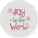 Joy to the World Cross Stitch Illustration