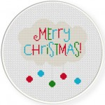 Merry Christmas Cross Stitch Illustration