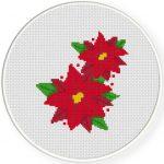 Poinsettia Cross Stitch Illustration