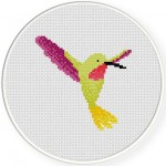 Pretty Hummingbird Cross Stitch Illustration