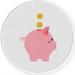 Save Up Cross Stitch Illustration